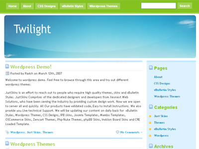 Twilight WordPress theme