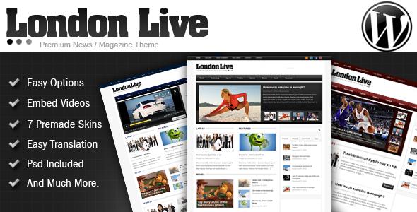 London Live WordPress Theme