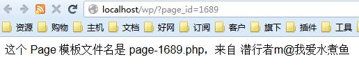 使用模板文件命名方法实现 Page 自定义模板页面的测试效果