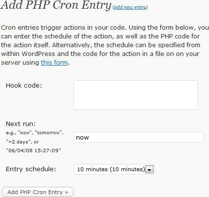 WP-Crontrol:通过 PHP 代码自定义定时作业