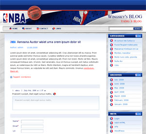 NBA Tube WordPress Theme