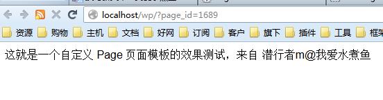 自定义 Page 页面模板的测试效果